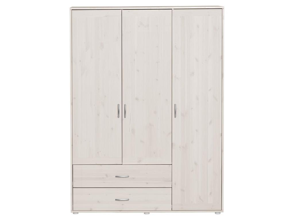 flexa classic kleiderschrank wei mit 3 t ren und 2 schubladen 81 24522 66 alles. Black Bedroom Furniture Sets. Home Design Ideas