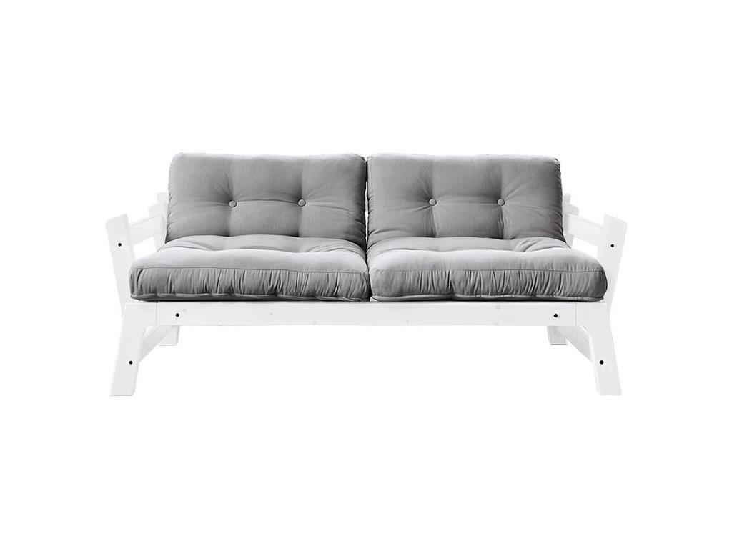 karup futonsofa mit 2 matratzen gestell kiefer wei lackiert step alles. Black Bedroom Furniture Sets. Home Design Ideas