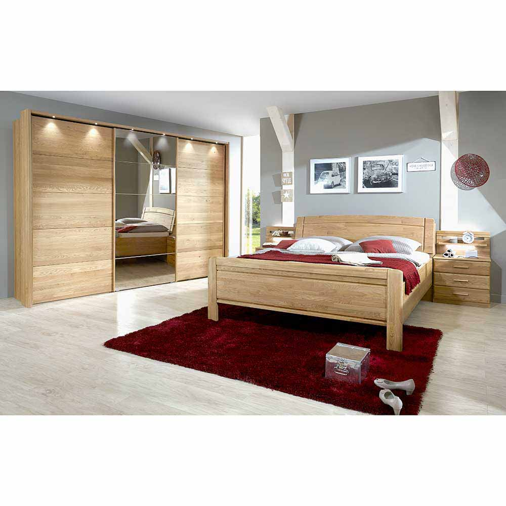 schlafzimmereinrichtung aus eiche teilmassiv schiebet ren. Black Bedroom Furniture Sets. Home Design Ideas